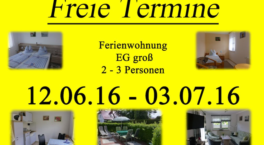 Freie Termine Juni 2016