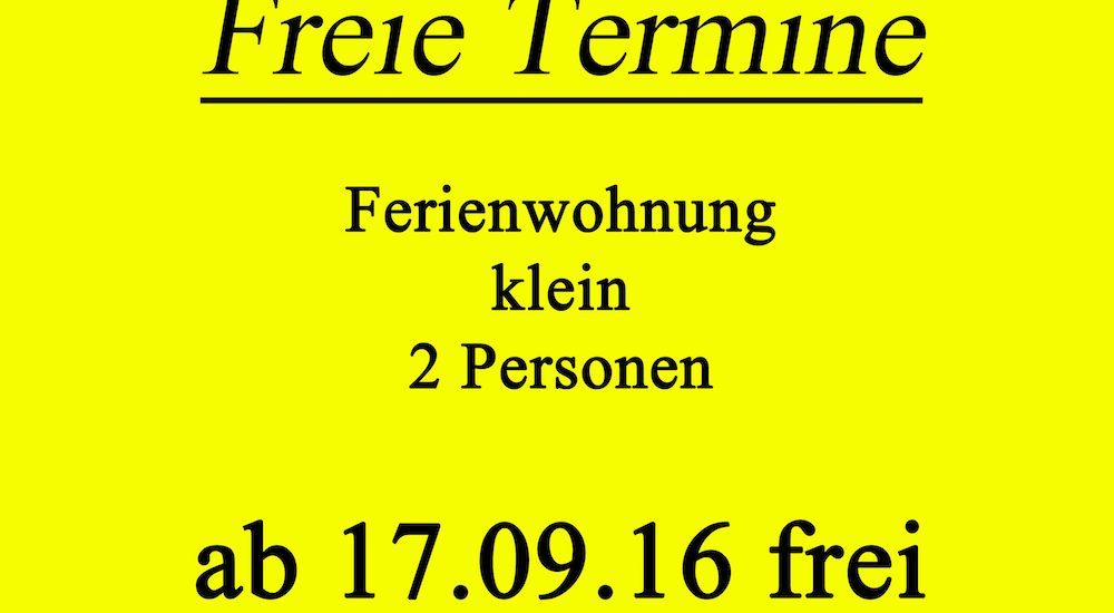 Freie Termine September 2016